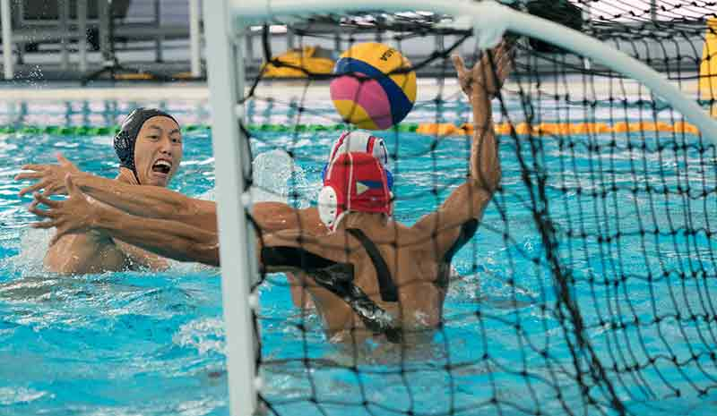 Water Polo Action for Goal