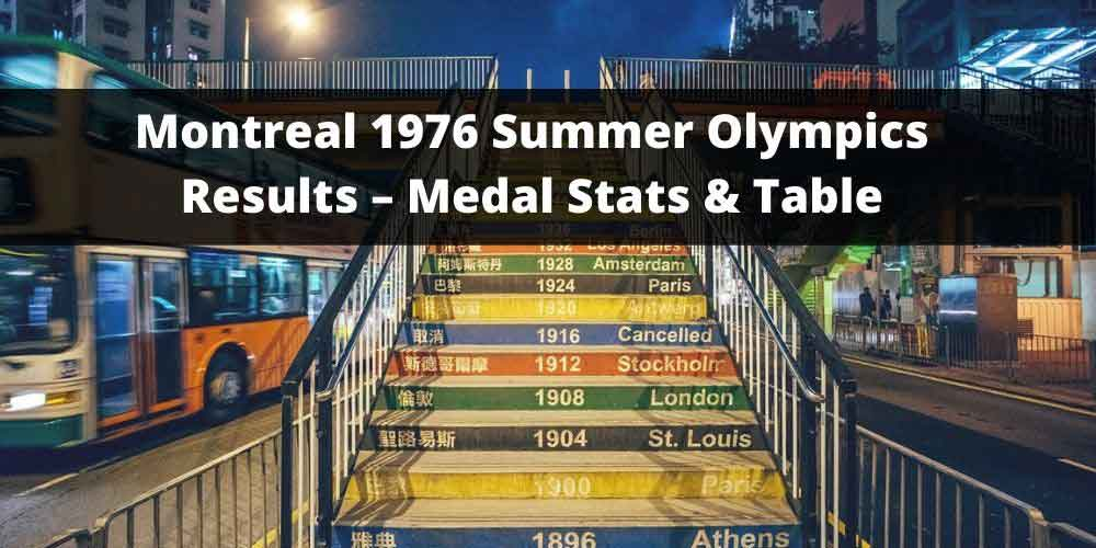 Montreal 1976 Summer Olympics Results – Medal Stats & Table