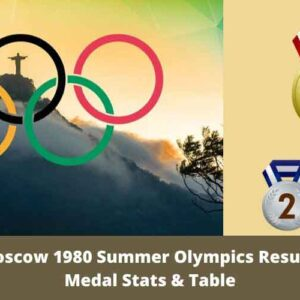 Moscow 1980 Summer Olympics Results – Medal Stats & Table